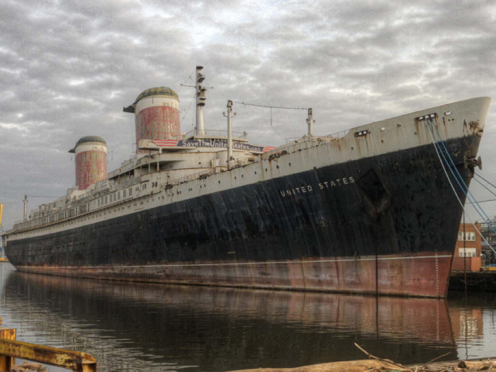 SS United State in disrepair